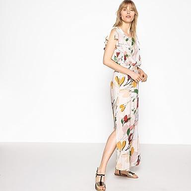 Redoute Collections Avec Fleurs Rose Longue La Droites Robe Et 6fYby7g