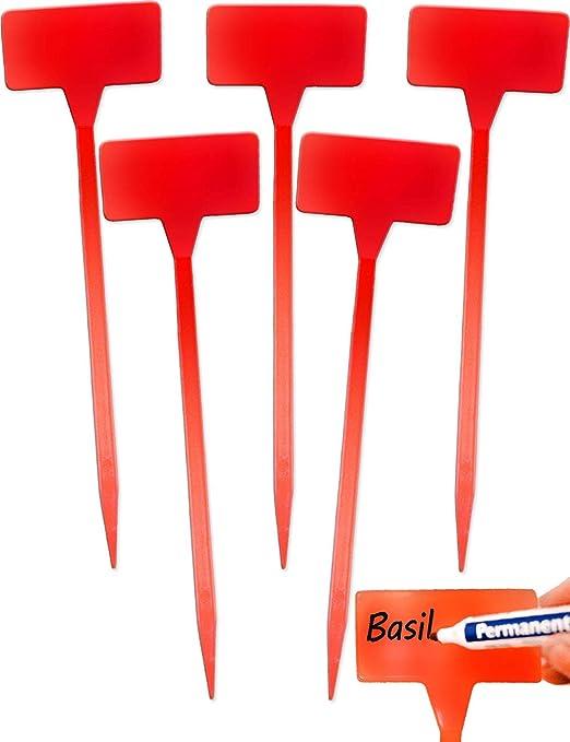 HomeTools.eu - Carteles para Plantas (5 Unidades, plástico, 30 cm ...