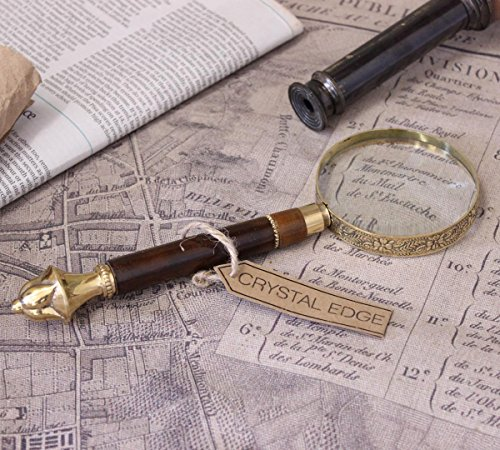 Pune Antique Vintage Magnifying Glass Brass Filigree Handle Map Nautical Gift