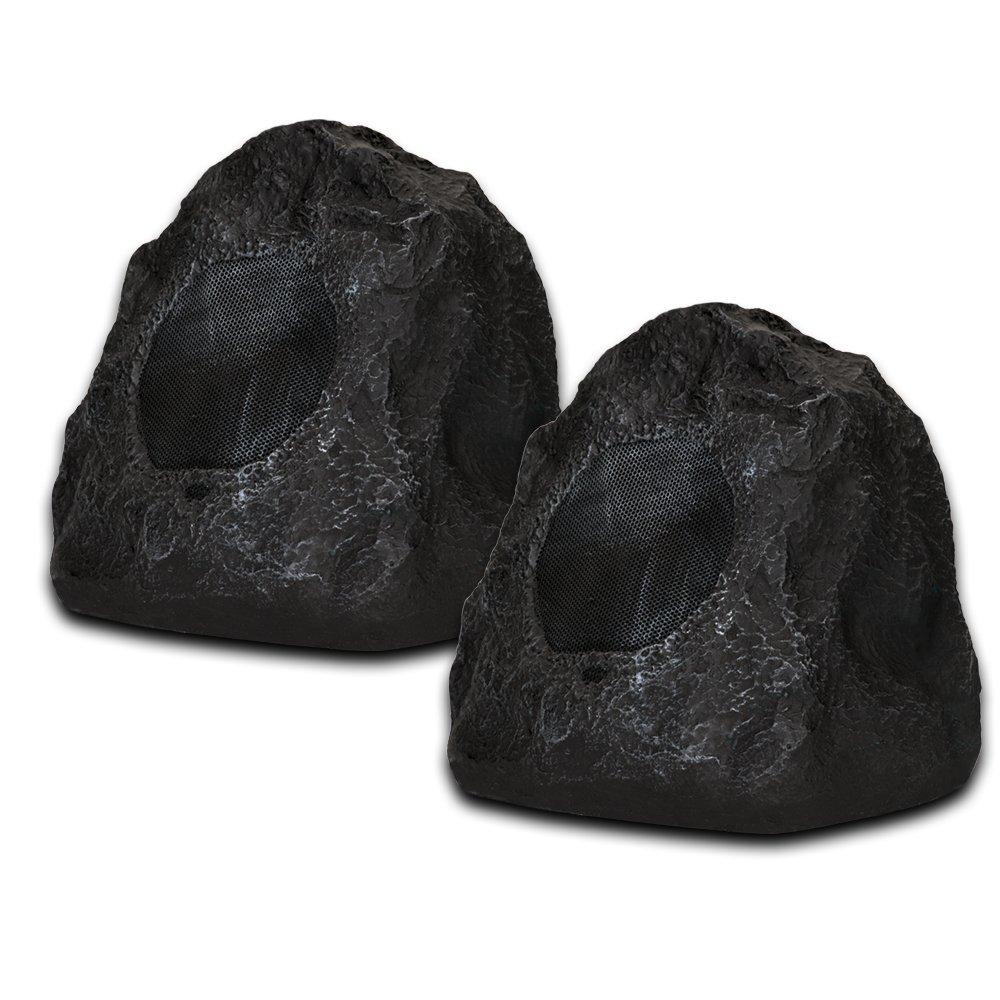 Acoustic Audio G4RS Outdoor Rock Speakers, Granite Grey