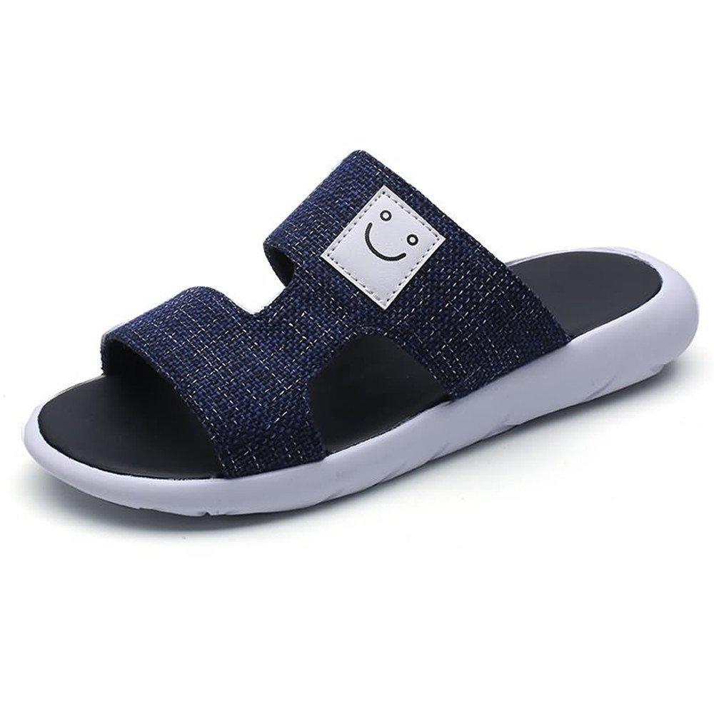 Zapatillas de Playa para Hombre Sandalias Antideslizantes con Suela auténtica Lleather con Hebillas Decorati 41 EU Negro