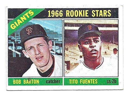 BOB BARTON TITO FUENTES 1966 Topps High Number Rookie Stars Rookie Card RC #511 San Francisco Giants - San 511 Francisco