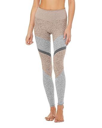 Alo Yoga Womens High-Waist Alosoft Sheila Legging Dark Heather Grey/Dove Grey Heather/Zinc Heather L
