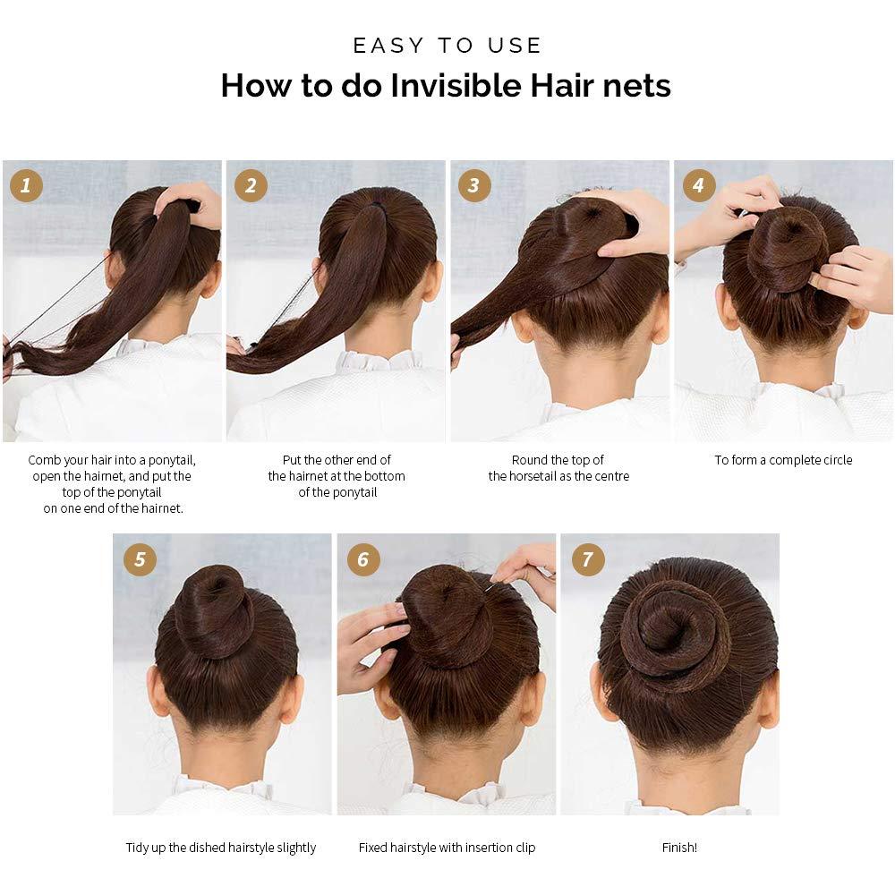 Hair Donut Bun Maker, FANDAMEI Hair Bun Shaper Set with 10 pcs Invisible  Hair Nets for Bun, 10pcs Donut Bun Maker, 10 pcs Hair Elastic Bands, 10 pcs