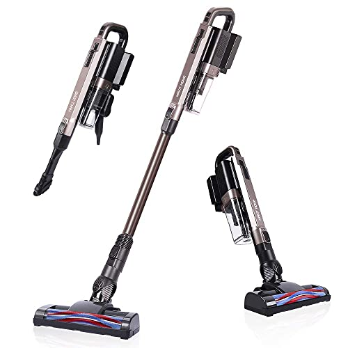 Cordless Vacuum Cleaner, 18 KPa Super Suction, Lightweight Handheld Stick Vacuum Cleaner Brushless Motor for Hard Floor, Pet Hair Only 1 Battery