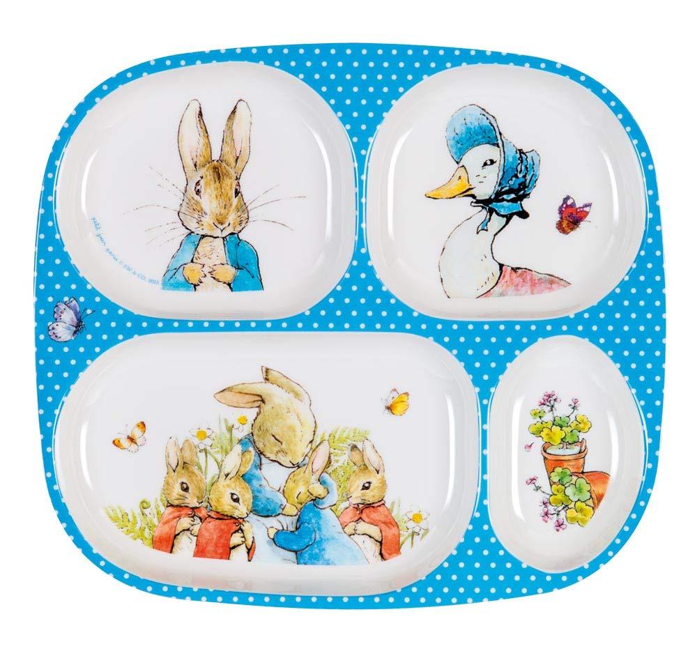 Placa de melamina Peter Rabbit con 4 compartimentos Petit Jour BP935G