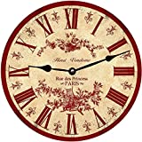 Red French Wall Clock- Paris Clock (23'')