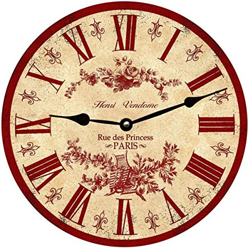 Red French Wall Clock- Paris Clock