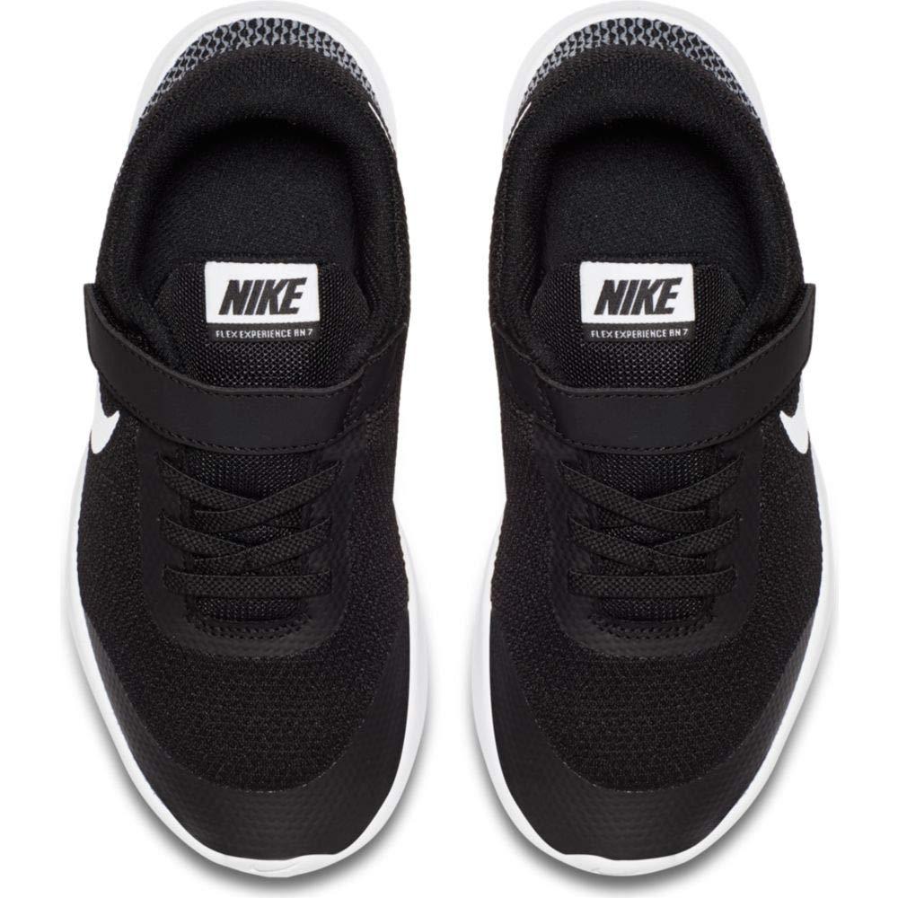Nike Boy's Flex Experience RN 7 (PSV) Running Shoes (1 M US Little Kid, Black/White/White)