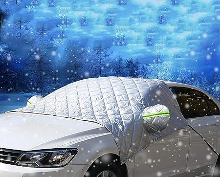 Iisport Windschutzscheibenabdeckung Premium Frontscheibe Schnee Frost Sonnenschutz Abdeckung Eisschutzfolie Für Winter Sommer Extra Groß 250cm X 140cm Passt Für Die Meisten Suvs Auto