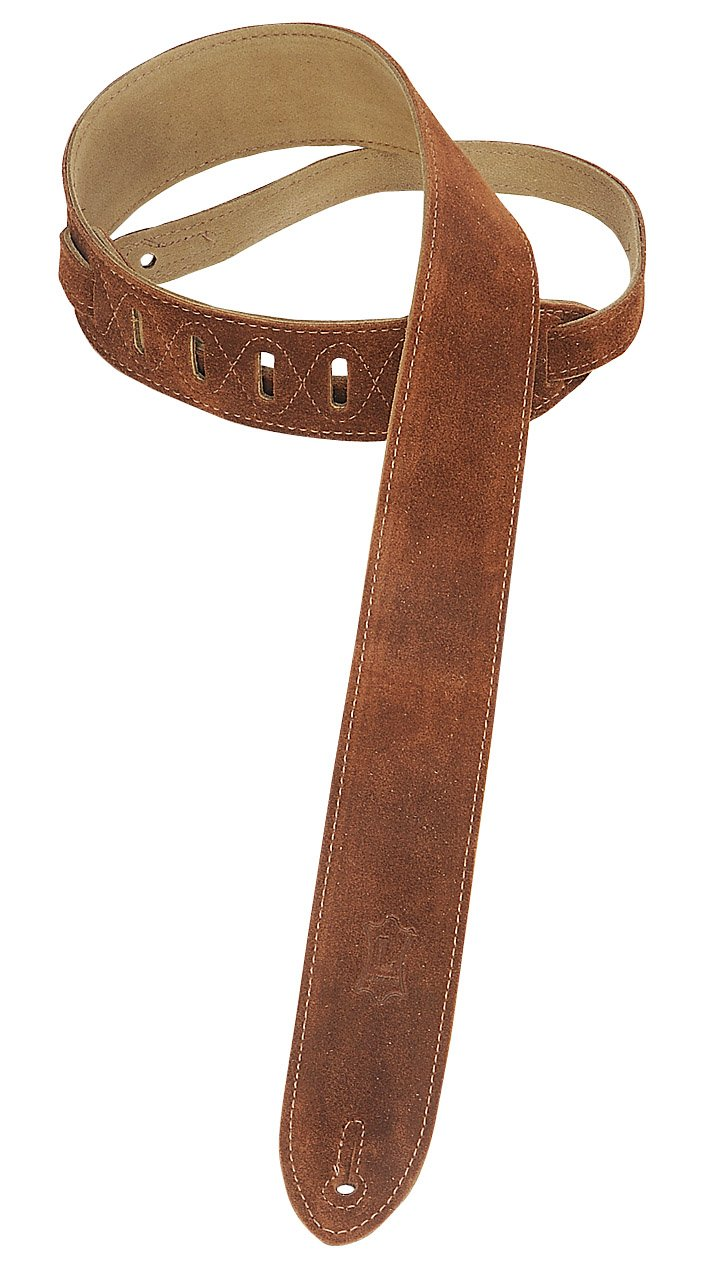 Levy's Leathers MS12-BRN 2-inch Suede-Leather Strap, Brown