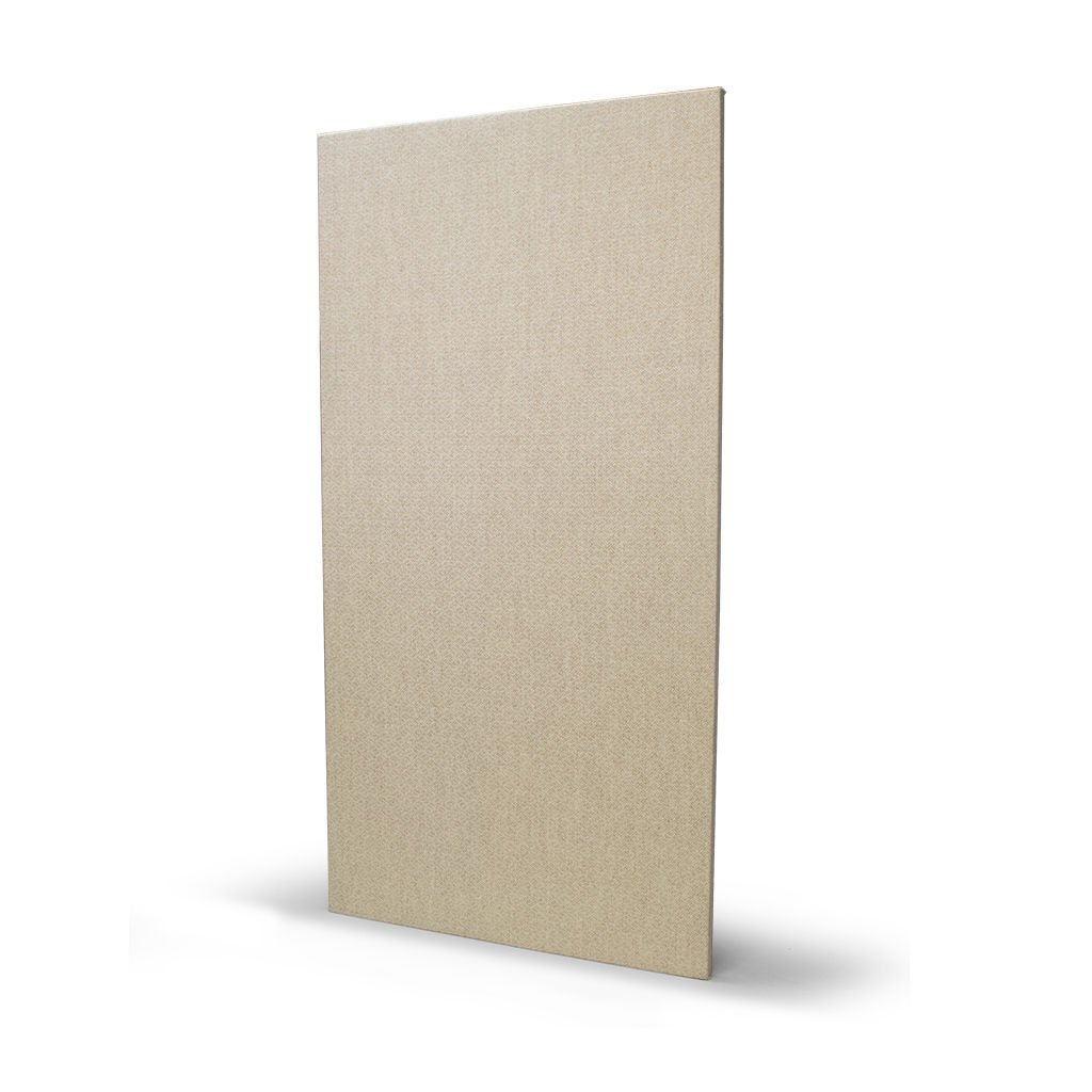 Acoustical Sound Absorbing Wall Panels, Formaldehyde Free, 1'' x 24'' x 48'', 6# density Lot of 10 (Natural)
