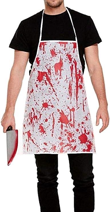 Delantal de carnicero zombie - manchas de sangre - asesino ...