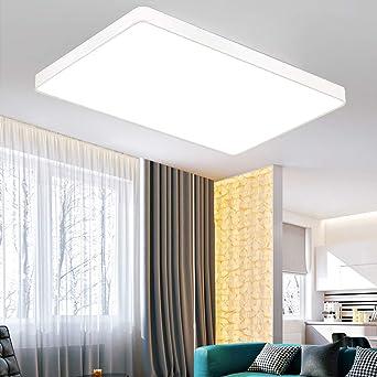 ETiME 36W Ultraslim LED Deckenleuchte 3240LM 60x40cm Deckenlampe Wohnzimmer  Küche Panel Leuchte Weiß 6000K-6500K Spannung 85V-265V (Weiß Kaltweiß ohne  ...