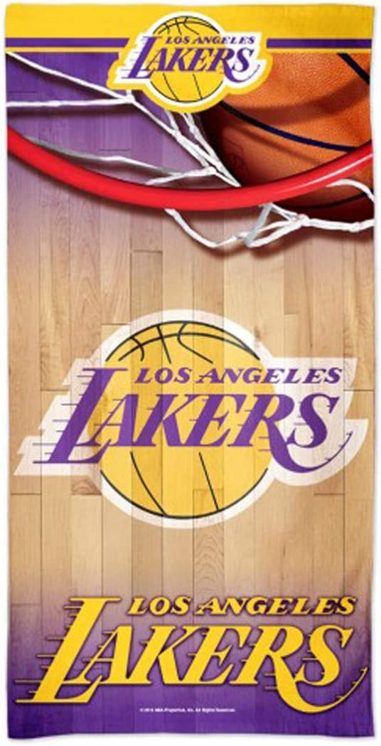 30 x 60 inches WinCraft Los Angeles LA Lakers Beach Towel with Premium Spectra Graphics