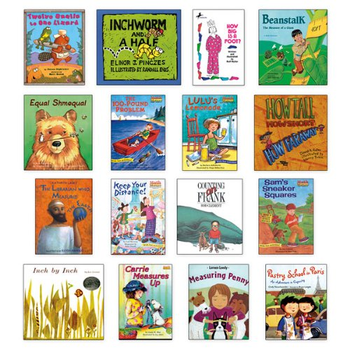 Nasco TB24626T Measurement Literature Collection Book Set, 16 Books, Grades Pre-K - 4