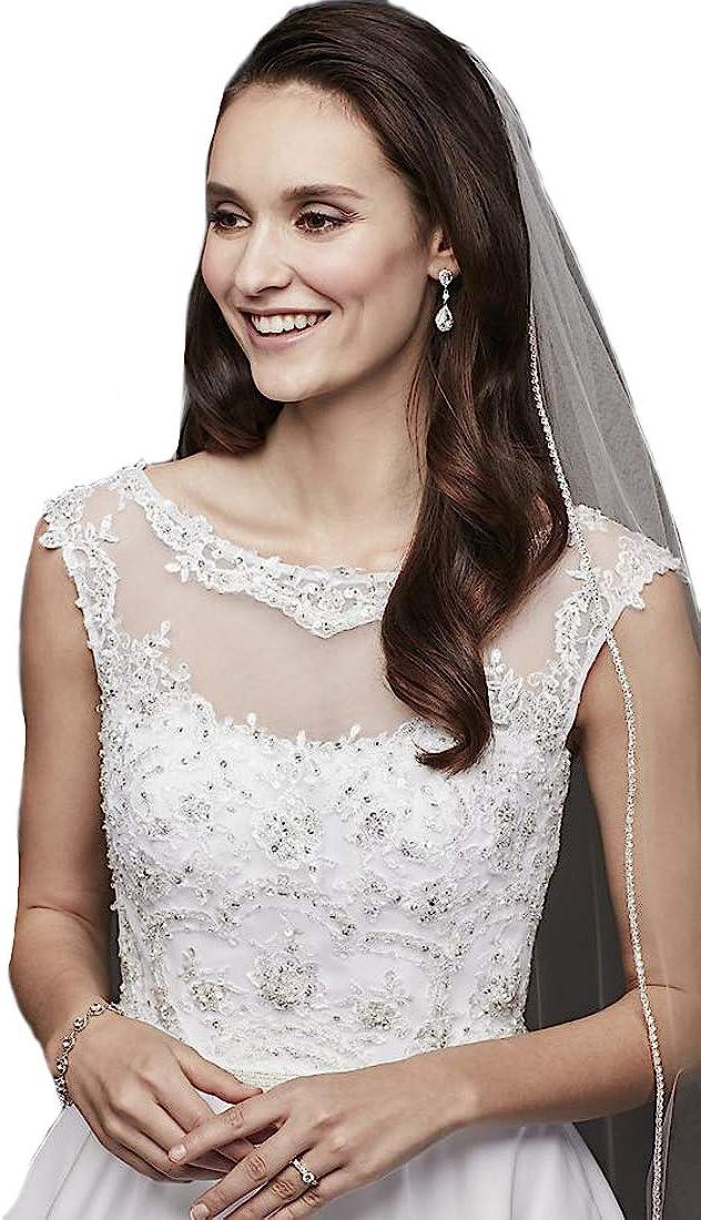 Passat 1Tier Sparkling Rhinestone Bridal Veils Clear Crystal Cathedral Wedding Veils For bridal 223