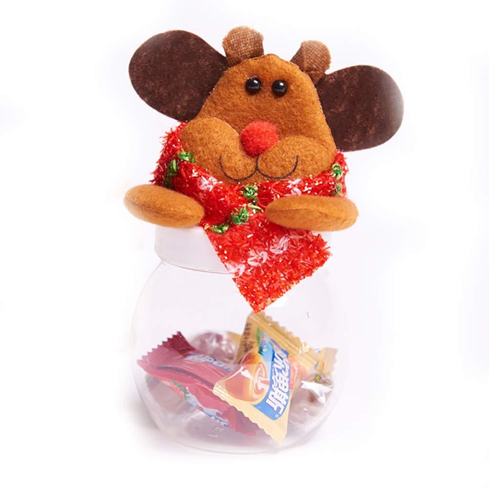 Newin Star Piccolo Barattolo Di Caramelle Di Natale Lattine Bottiglie Di Dolci Negozio Di Articoli Da Regalo Decor (Elk)