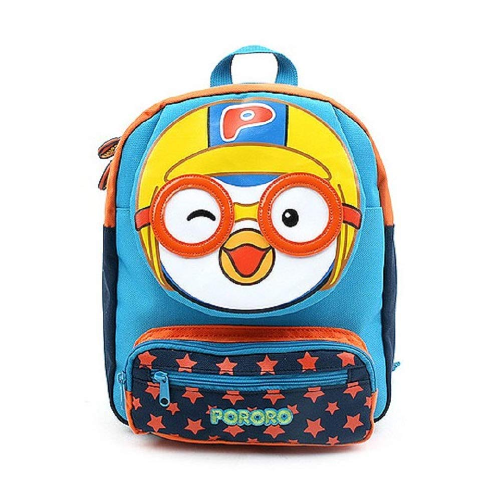Pororo Face Safety Harness Kids Backpack Blue