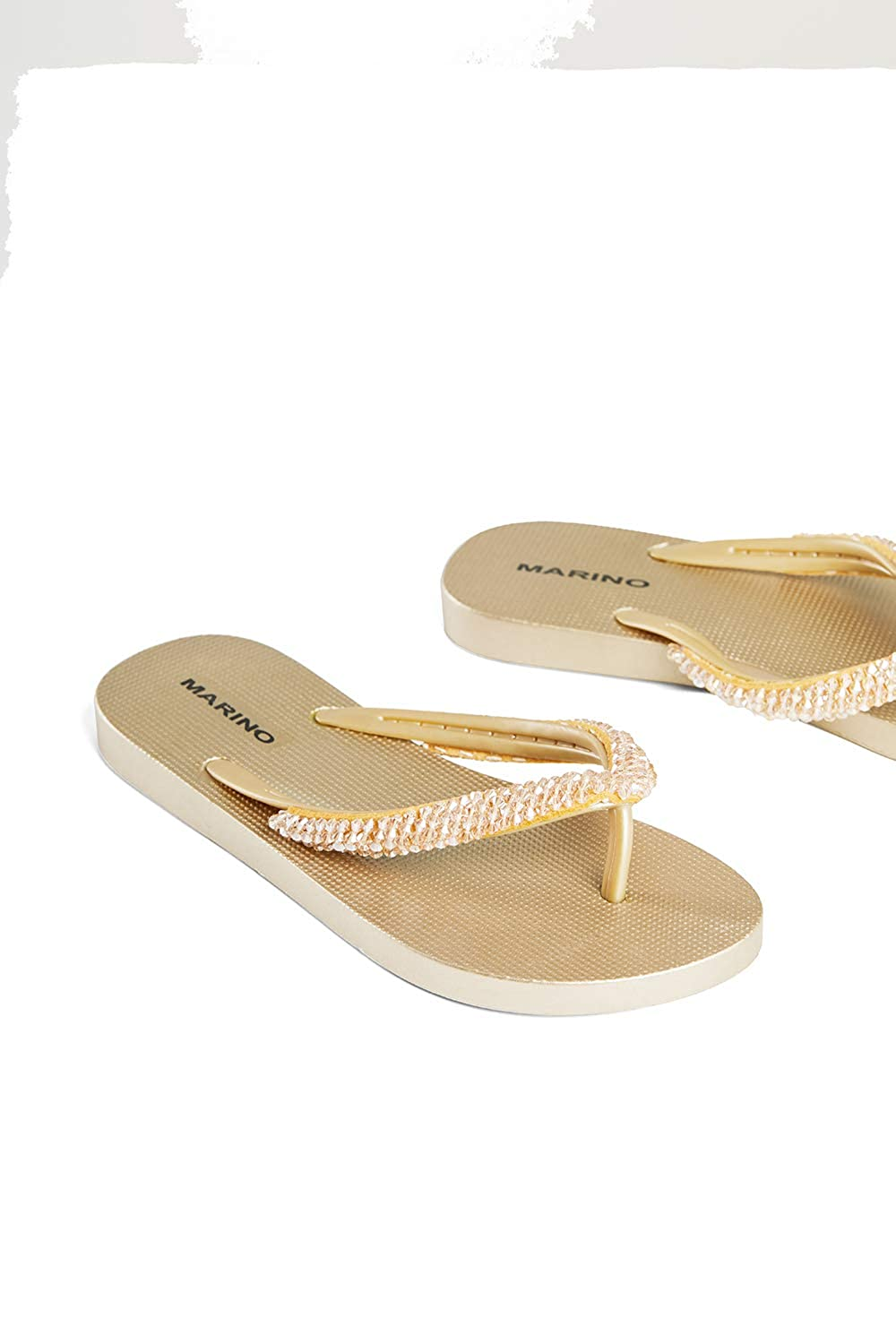 d91a98f7f Shoes YC.MARINO Ladies Silver Summer Sandals Cute Sparkly Diamante Flip  Flops for Women