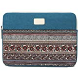 BLOOMSTAR 13 Inch Bohemian Canvas Protective Laptop Sleeve Bag Notebook Case Cover for MacBook, Chromebook, Acer, Dell, HP, Samsung, Sony (Blue)