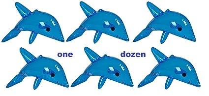 Amazon.com: (12) hinchable azul Dolphins ~ aproximadamente ...