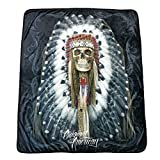 DGA Day of Dead High Defenition Super Soft Plush Polar Fleece Blanket 50x60 Inches - Original American