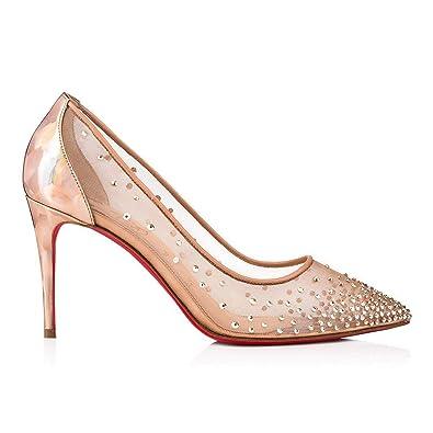 cec4183e82 Amazon.com | Christian Louboutin Women's 1190402Pk5s Pink Polyester Pumps |  Pumps