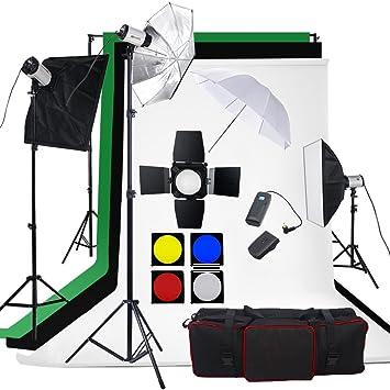 BPS - Flash Kit Estudio Fotografico, Fondo de Algodón(2.8 * 1.8m ...