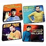 Vandor 80085 Star Trek 4-Piece Wood Coaster Set, Multicolored