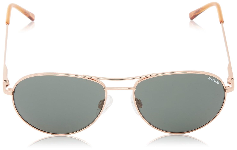 97d5f9509385 Amazon.com: Randolph Crew Chief II CT45414-PC Oval Sunglasses,Rose Gold,54  mm: Clothing