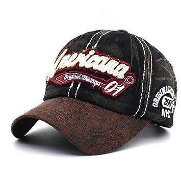CXKNP Nueva Retro Gorra De Béisbol Lavada Snapback Hat Hombre ...