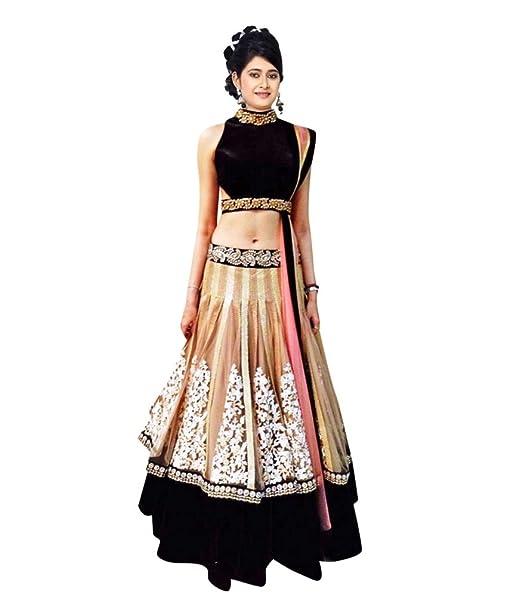 8b0224cac0f7 4STAR CREATION New Designer Mastani Chiku Lehenga Black & off white:  Amazon.in: Clothing & Accessories