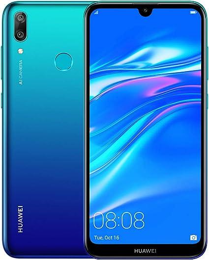 Amazon Com Huawei Y7 2019 32gb 3gb 6 26 Dewdrop Display 4000 Mah Battery 4g Lte Gsm Dual Sim Factory Unlocked Smartphone Dub Lx3 International Version No Warranty Blue