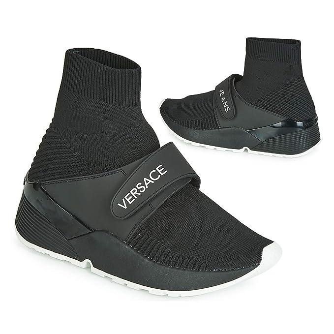 Amazon.com: Versace Jeans High Running Womens Sneakers Black ...