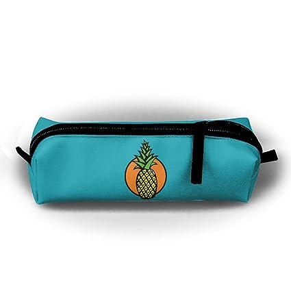 e0804669420d Rainforest Pineapple Fruit Pen Pencil Stationery Bag Makeup Case Travel  Cosmetic Brush Accessories Toiletries Pouch Bags