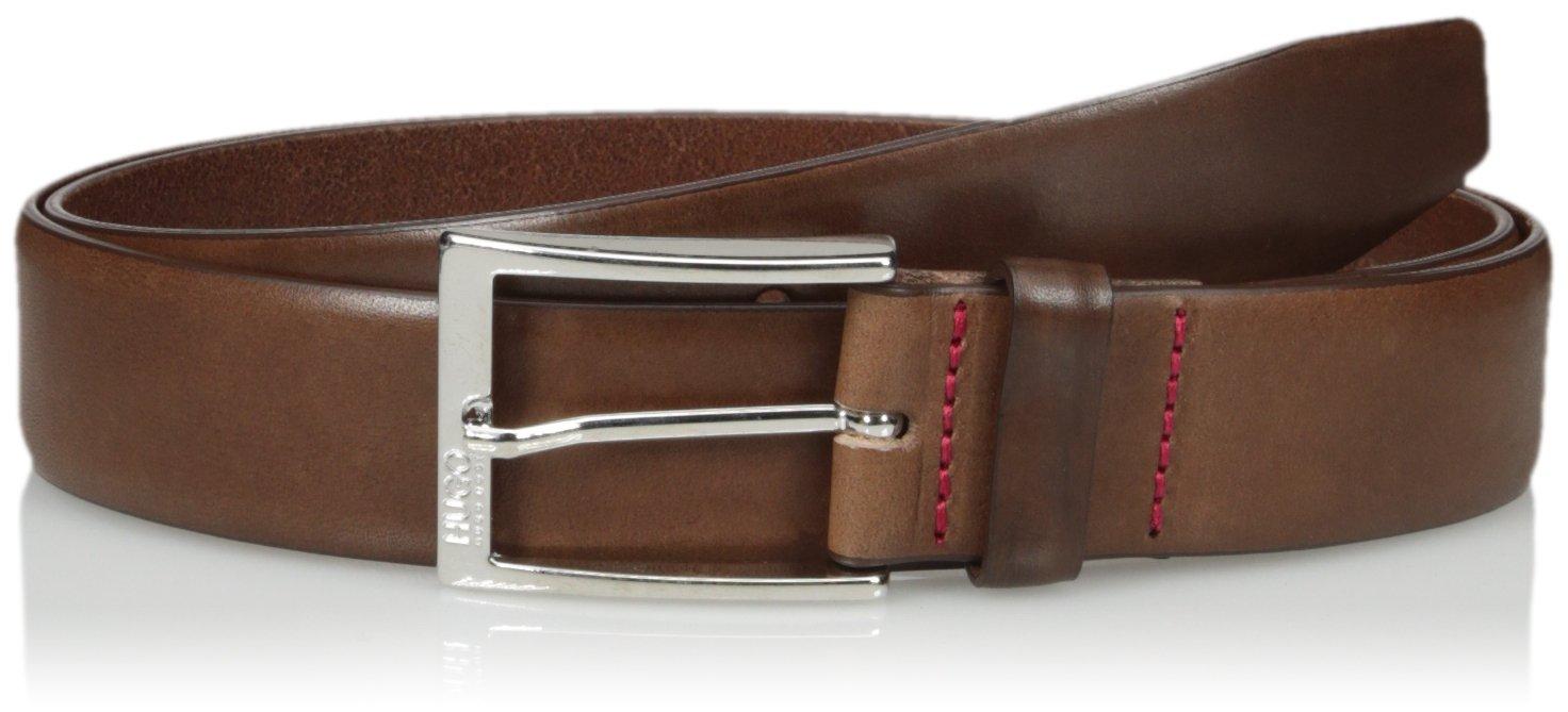 Hugo Hugo Boss Men's C-gerron-n Leather Belt, medium brown, 34