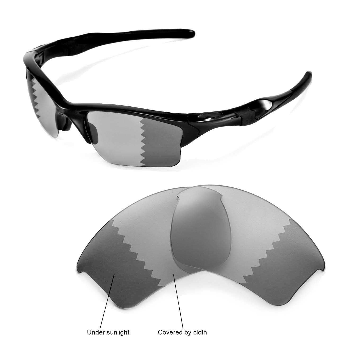 ef78431eec967 Amazon.com  Walleva Replacement Lenses for Oakley Half Jacket 2.0 XL  Sunglasses - Multiple Options Available (Photochromic Transition -  Polarized)  Clothing