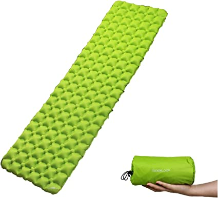 Ultralight Comfortable Backpacking Mattress Best as Tent Hammock Outdoor Pads TREKOLOGY Inflatable Camping Mat for Sleeping UL50 Compact Lightweight Camp Mat Sleeping Pad
