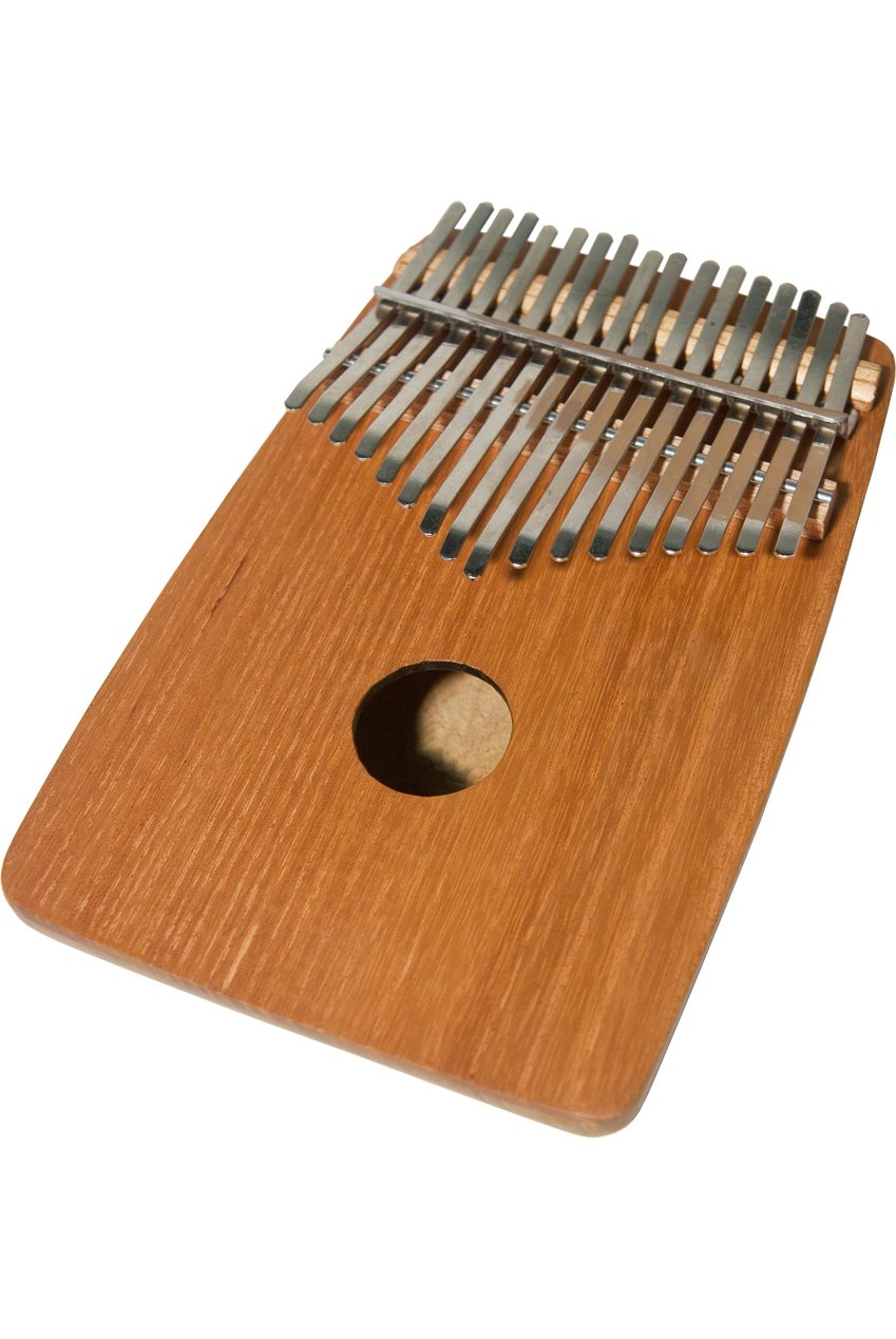 DOBANI 17-KEY KALIMBA THUMB PIANO WITH ROUNDED BACK - RED CEDAR by DOBANI