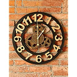 ZHENAI Industrial Wind Retro Gear Decorative Wall Clocks Creative Home Living Room Wall Decoration Bar Wall Clock Personality (5050CM) Office (Color : A)