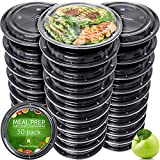 Meal Prep Containers [30 pack] - Reusable Plastic Containers with lids - Disposable Food Containers Meal Prep Bowls - Plastic Food Storage Containers with Lids - Lunch Containers for Adults
