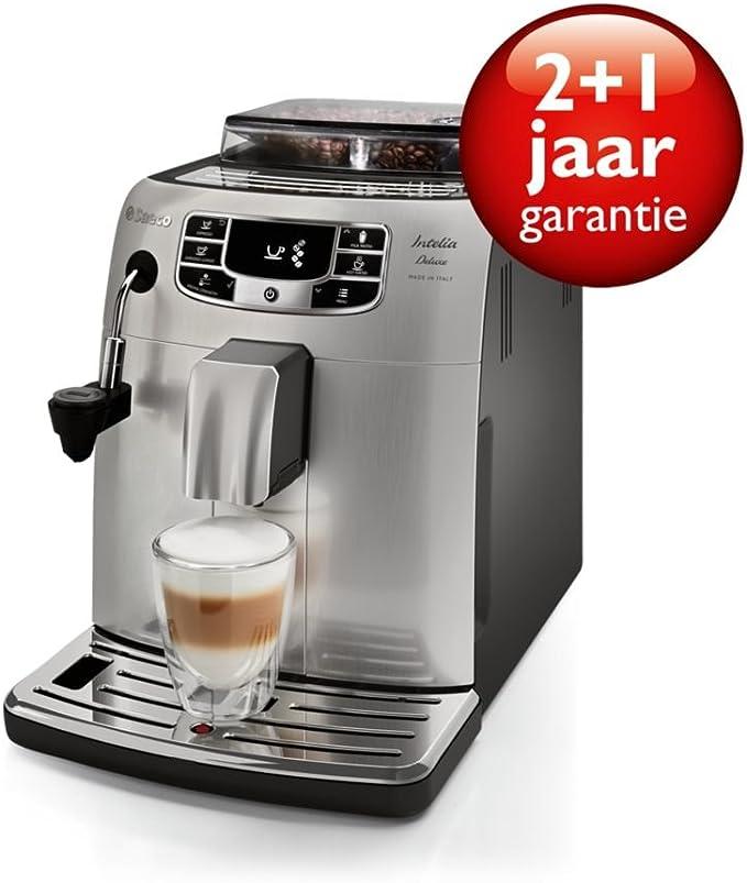 Saeco HD8904/01 - Cafetera (Independiente, Máquina espresso, 1,5 L, Molinillo integrado, 1850 W, Acero inoxidable): Amazon.es: Hogar
