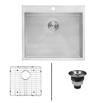 Genial Ruvati Topmount Laundry Utility Sink 25u0026quot; X 22u0026quot; X 12u0026quot; Deep 16  Gauge