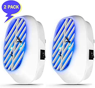 2020 Indoor Bug Zapper - Electric Fly Zapper 2 Pack -Best Plug-In Mosquito Killer - Electronic Insect Repellent with UV LED Lights - Portable Trap for Fruit Flies Gnats Moth Bugs