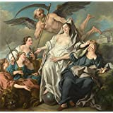Canvas Prints Of Oil Painting ' Jean Franois Detroy Time Unveiling Truth ' , 24 x 25 inch / 61 x 62 cm , High Quality Polyster Canvas Is For Gifts And Gym, Home Theater And Laundry Room Decoration