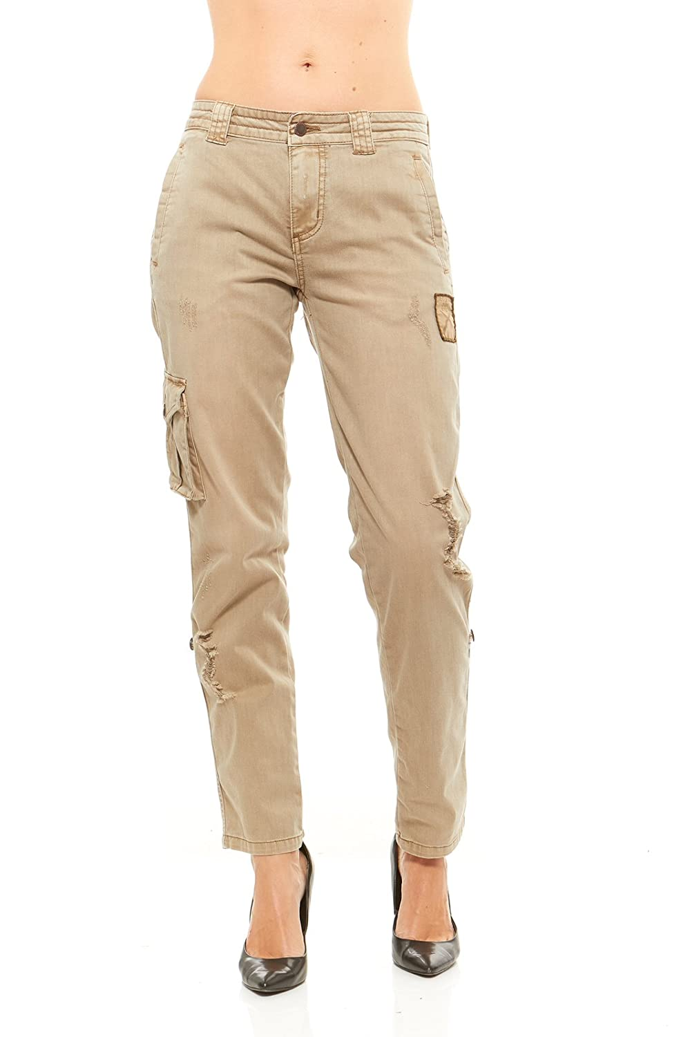 4255e4caca814 Red Jeans Women's Women Military Army Fatigue Denim Camo Pants: Amazon.ca:  Clothing & Accessories