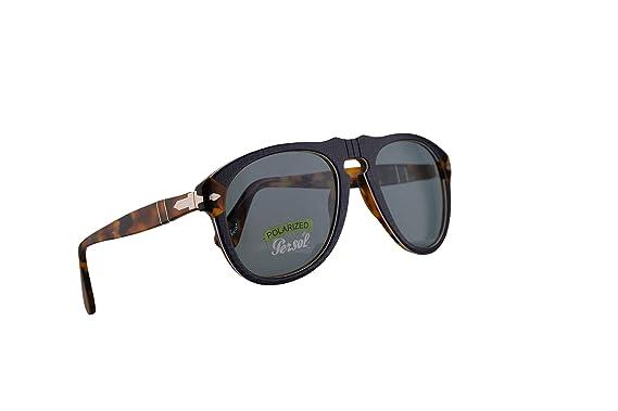 3269ef6ddba4 Amazon.com: Persol 649 Sunglasses P.Galles Blue w/Polarized Blue ...