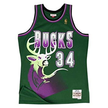 Camiseta Swingman vintage Mitchell & Ness Ray Allen Milwaukee Bucks Talla S
