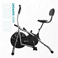 Reach AB-100 Air Bike Exercise Cycle with Moving Handles, Adjustable Cushioned Seat, Best Cardio Fitness Machine for Weight Loss | Twister & Back Support Seat